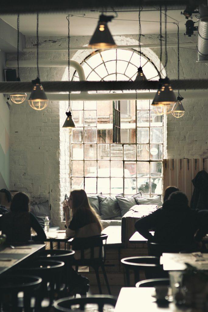 vintage, restaurant, window